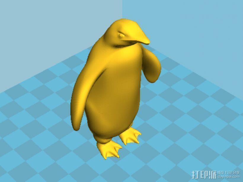 企鹅 3D打印模型渲染图