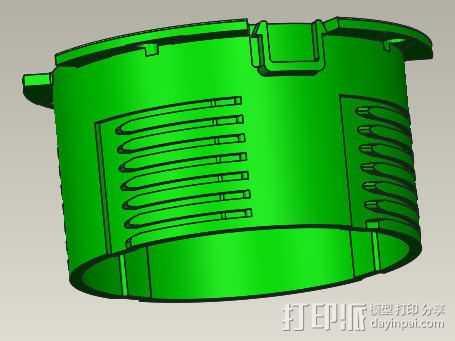 电脑风扇导风筒 3D打印模型渲染图
