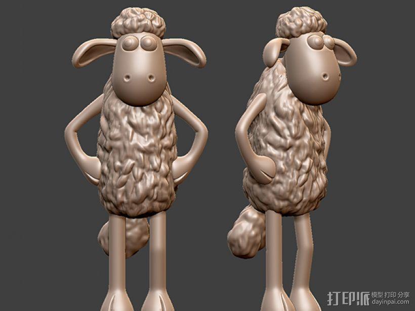 小羊肖恩 3D打印模型渲染图