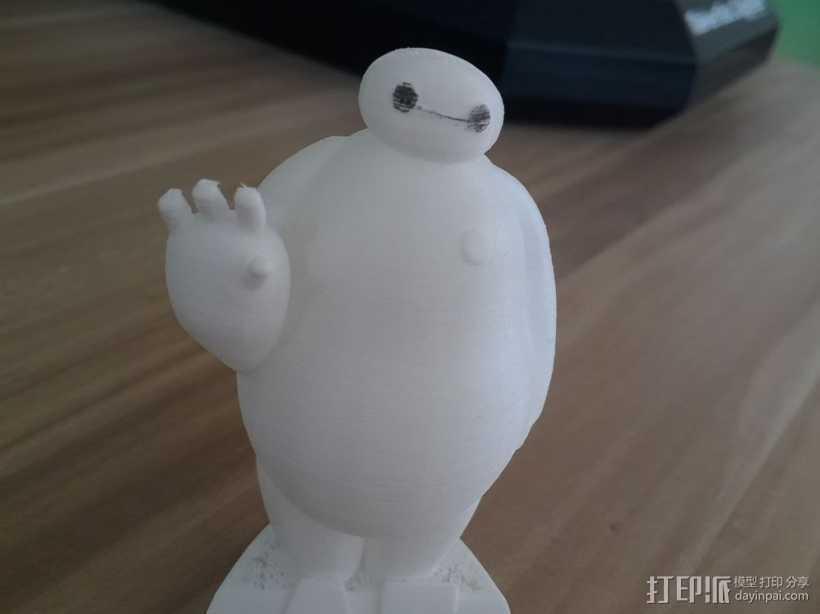 大白-超能陆战队 3D打印模型渲染图