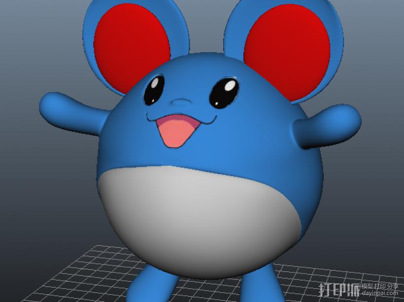 玛丽露-口袋妖怪 3D打印模型渲染图