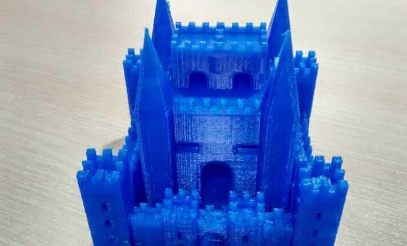 PLA材质,打印机试打中世纪欧洲城堡 3D打印实物照片