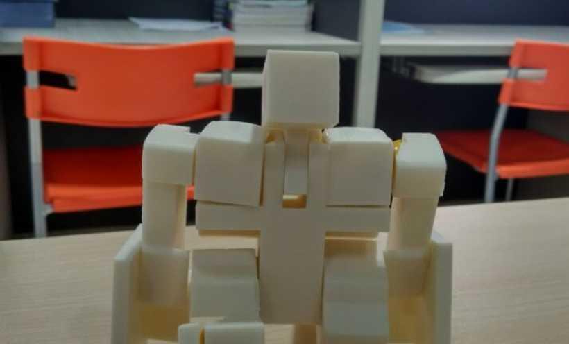 魔方机器人 3D打印实物照片