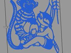 立体剪纸 十二生肖 猴