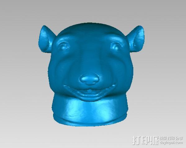 十二兽首-鼠 3D打印模型渲染图