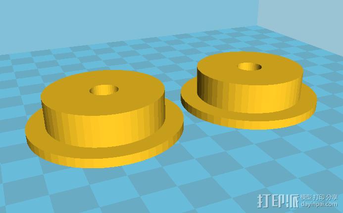 3D打印料盘滚轴roller 3D打印模型渲染图