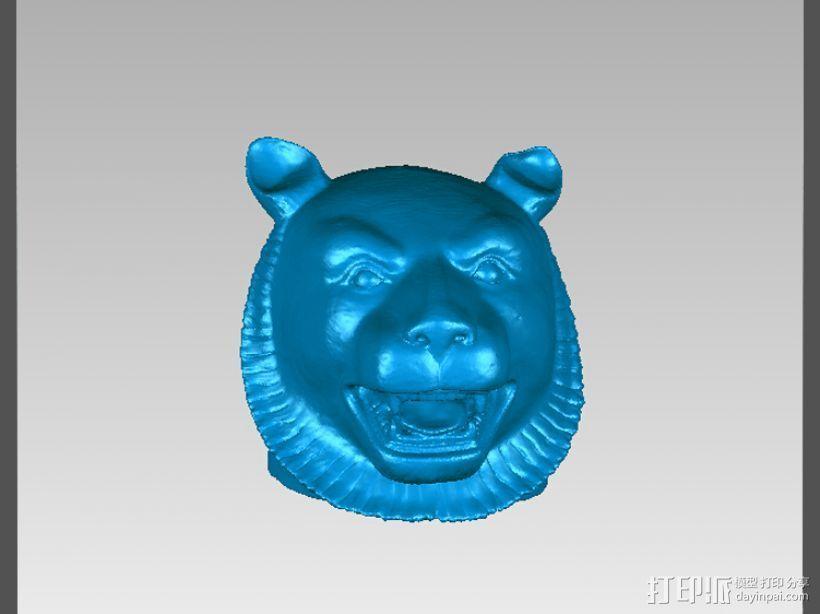 十二兽首-虎 3D打印模型渲染图