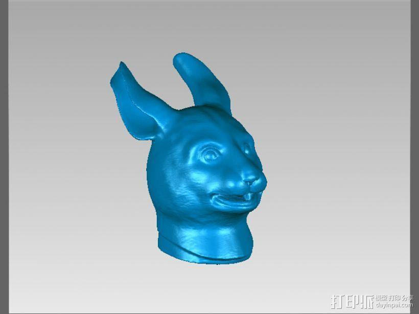 十二兽首-兔 3D打印模型渲染图