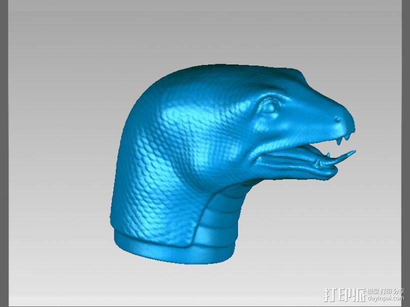 十二兽首-蛇 3D打印模型渲染图