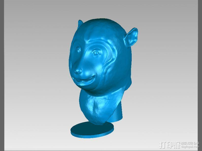 十二兽首-猴 3D打印模型渲染图