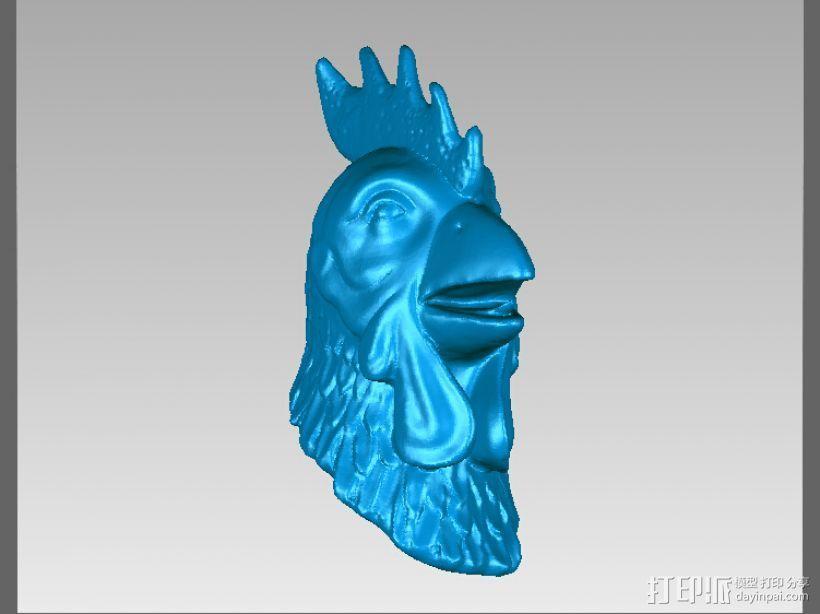 十二兽首-鸡 3D打印模型渲染图