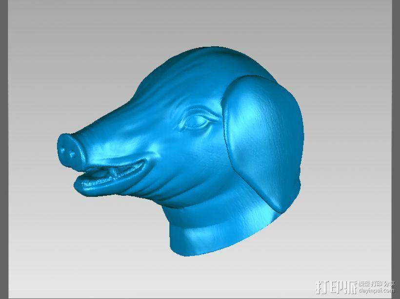 十二兽首-猪 3D打印模型渲染图