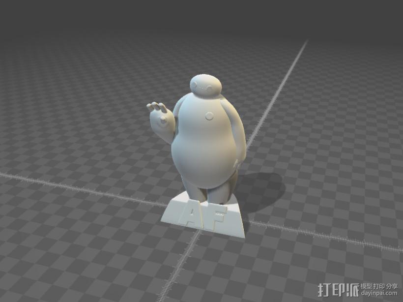 Baymax大白3D打印STL模型 3D打印模型渲染图