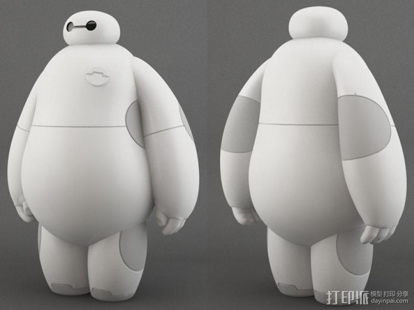 超能陆战队baymax小白 3D打印模型渲染图
