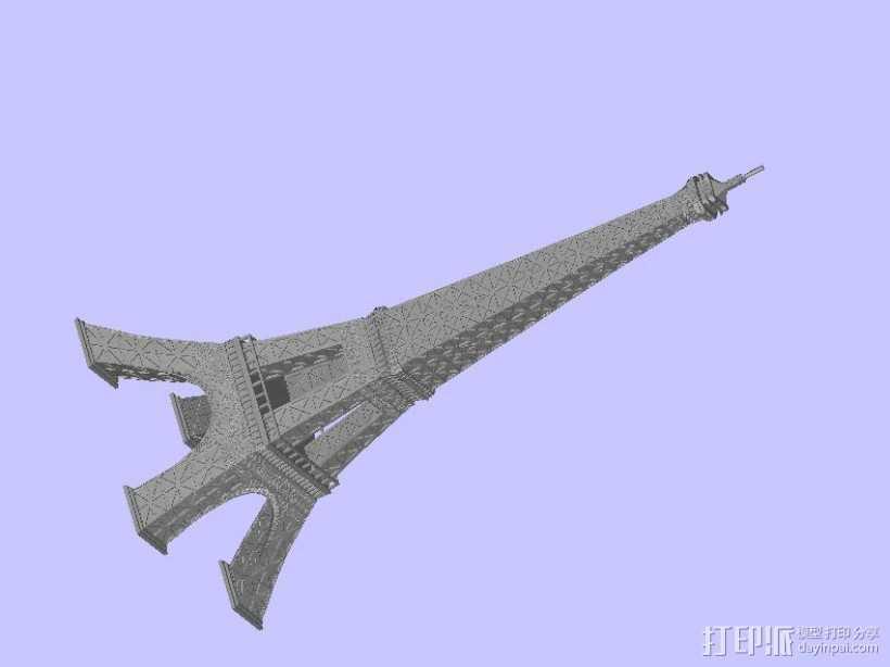 艾菲尔铁塔 3D打印模型渲染图