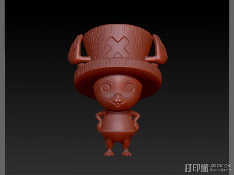 海贼王-乔巴 3D打印模型渲染图
