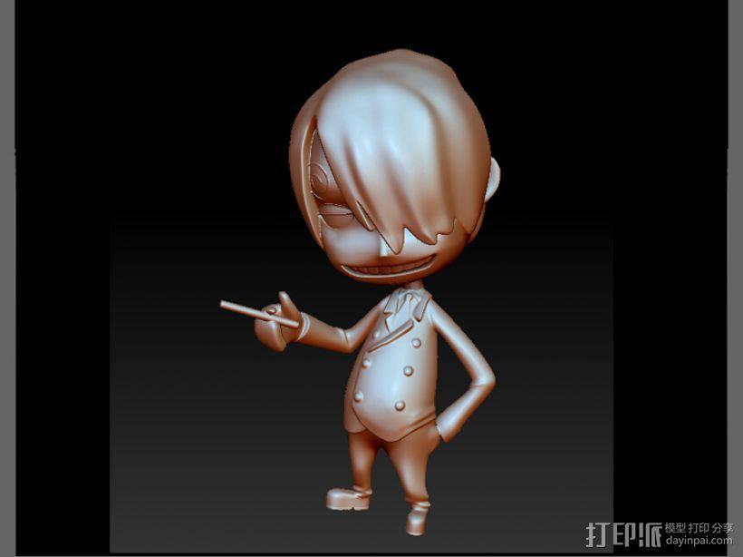 海贼王-香吉士 3D打印模型渲染图