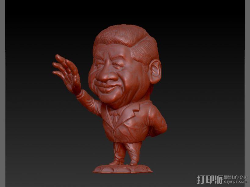 习大大卡通形象 3D打印模型渲染图