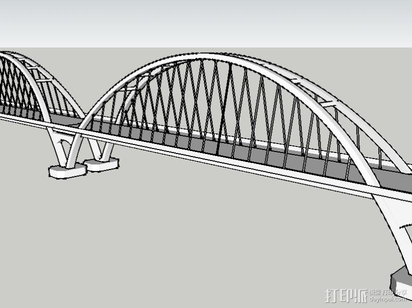 福元路大桥 3D打印模型渲染图