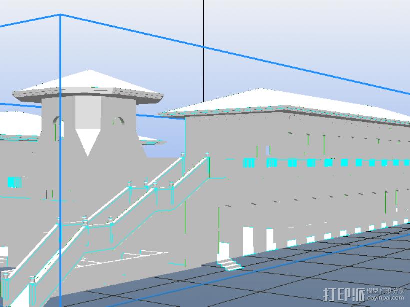 某污水处理站 3D打印模型渲染图