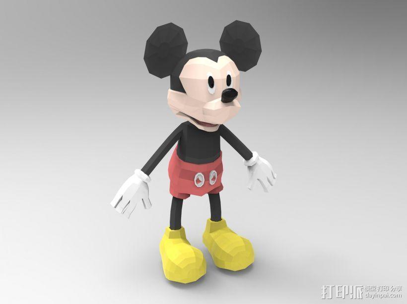 米奇,mickey 3D打印模型渲染图