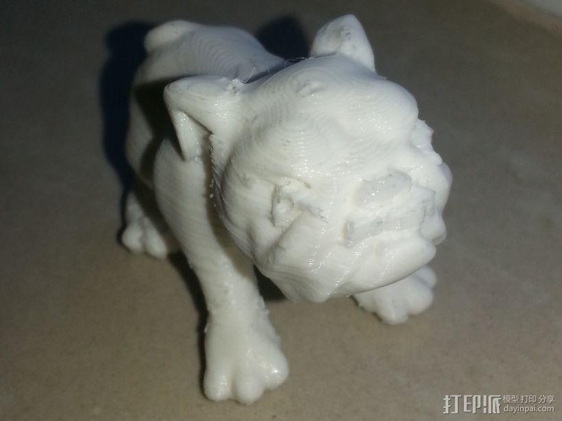 小狗狗 3D打印模型渲染图