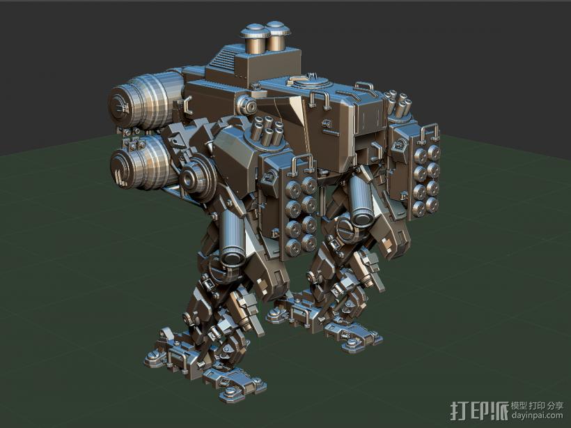 重甲机器 3D打印模型渲染图