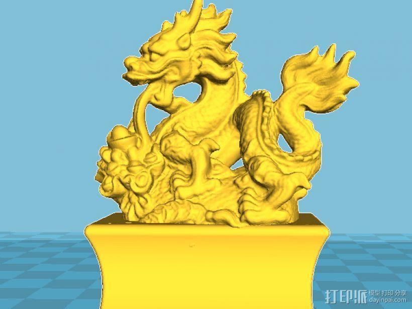十二生肖之一龙 3D打印模型渲染图