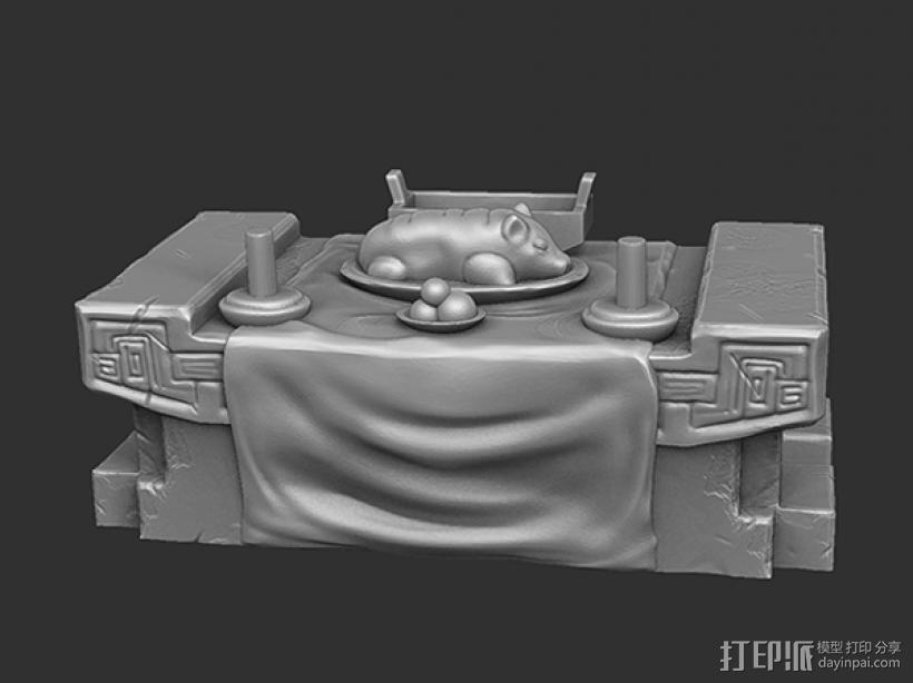 三国演义桃园结义——结拜祭台 3D打印模型渲染图