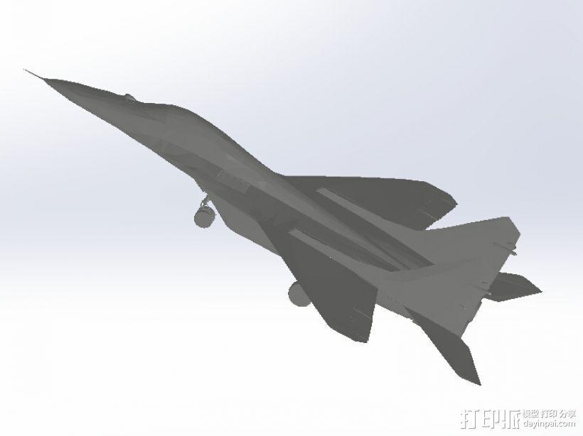 米高扬米格MIG-29 3D打印模型渲染图