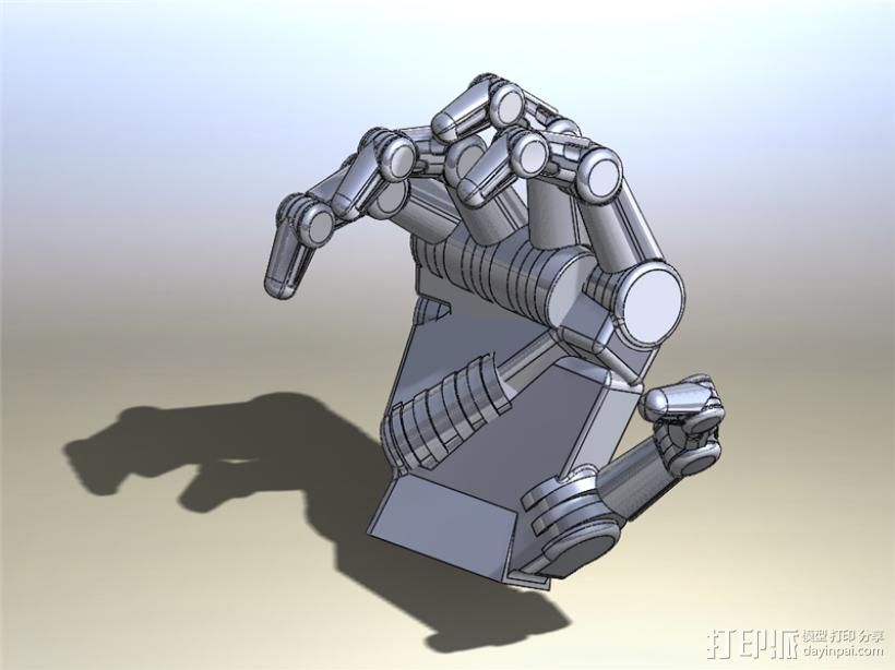 仿人机械手 3D打印模型渲染图