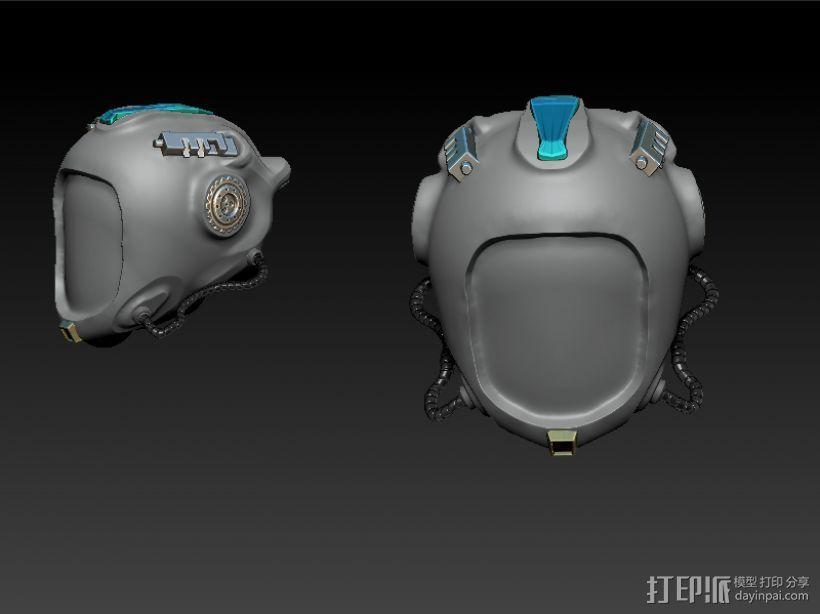 头盔 3D打印模型渲染图