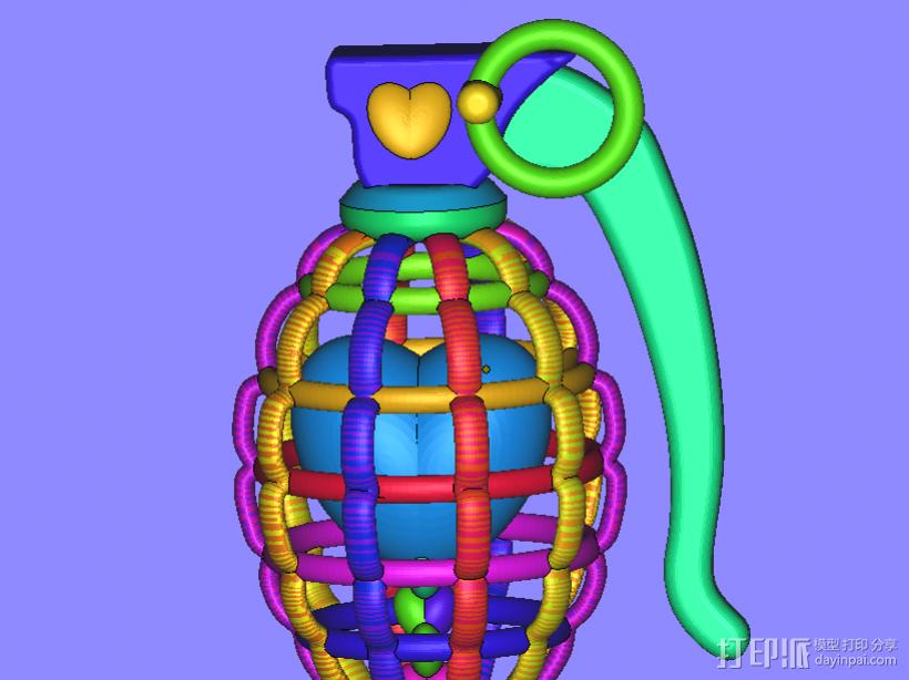 心碎 3D打印模型渲染图