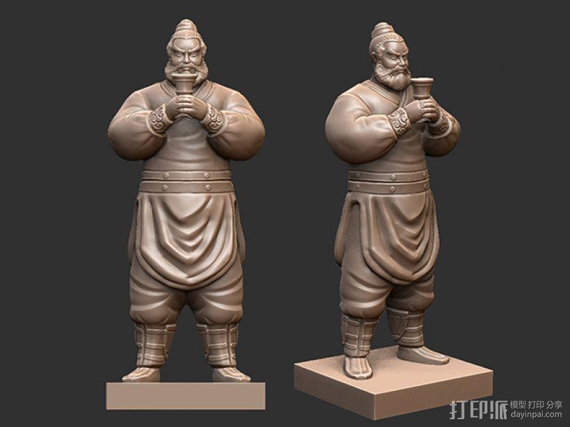 三国演义桃园结义——张飞 3D打印模型渲染图