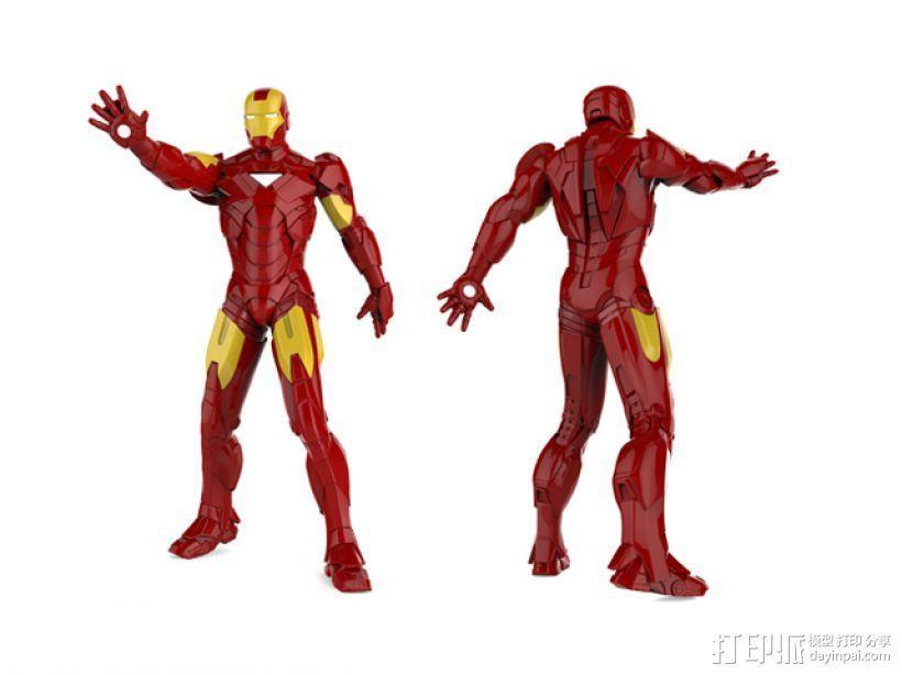钢铁侠 3D打印模型渲染图