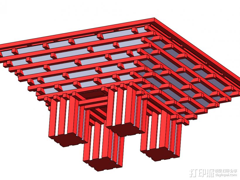 世博会 中国馆 3D打印模型渲染图