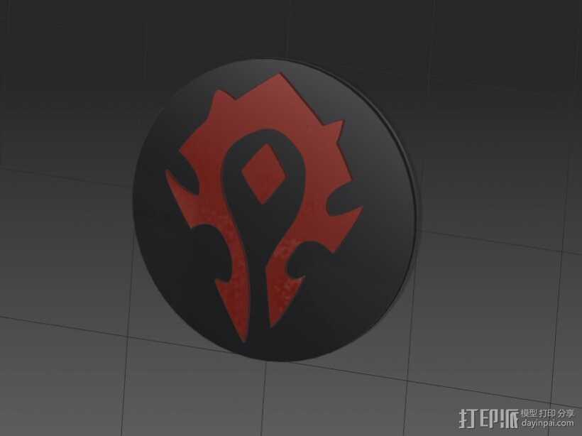 部落徽章 3D打印模型渲染图