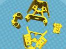 国标2020光轴版支撑角件+轴承支架+皮带固定架