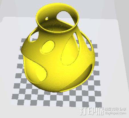 fdm 无需支撑的漂亮花瓶 3D打印模型渲染图