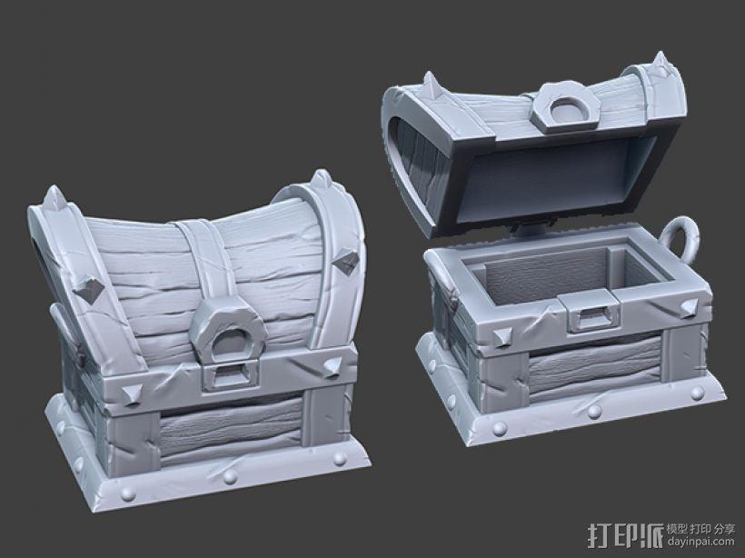 海贼宝箱——小件收纳盒 3D打印模型渲染图