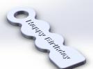 Happy Birthday 标示牌