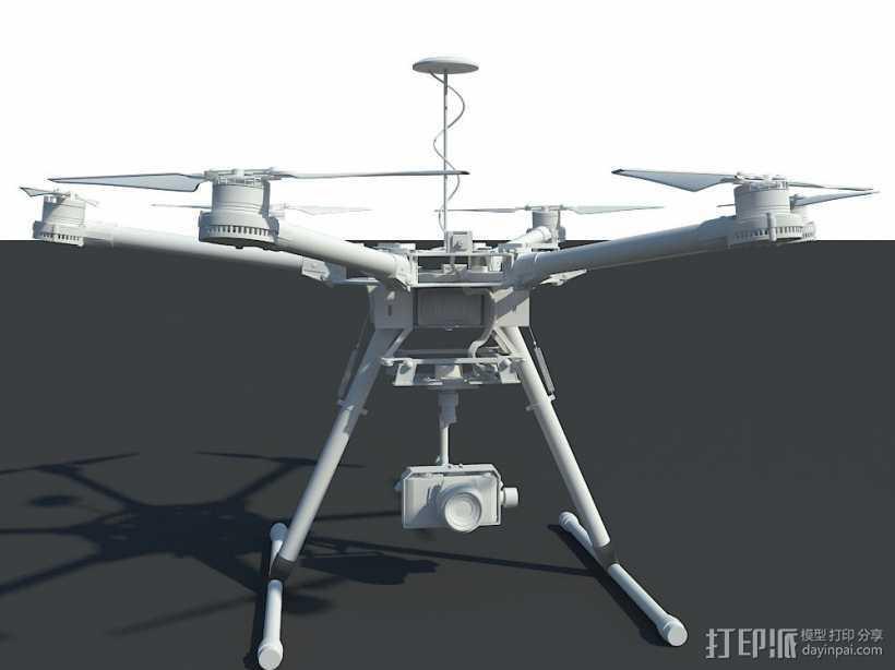 航拍机/无人机 3d模型 3D打印模型渲染图