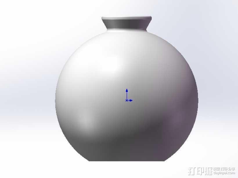 圆形花瓶 3D打印模型渲染图