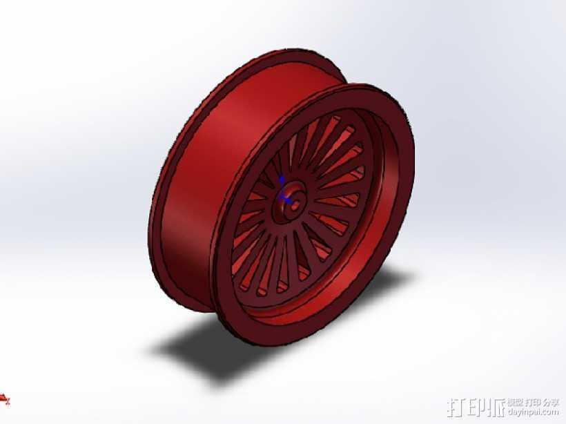 轮毂 3D打印模型渲染图