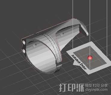 自行车水壶架 3D打印模型渲染图