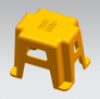 工业模型3D打印凳子模型