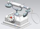 电话模型古典模型欧美风格电话3D打印