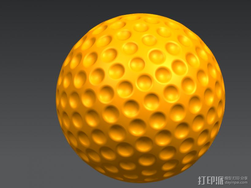 高尔夫球模型 3D打印模型渲染图