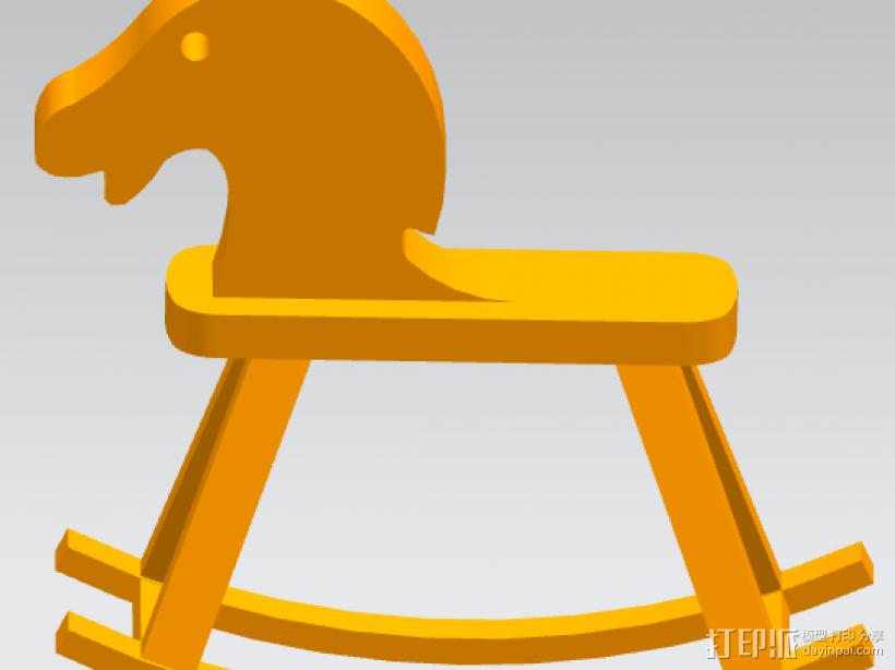 旋转的木马 3D打印模型渲染图