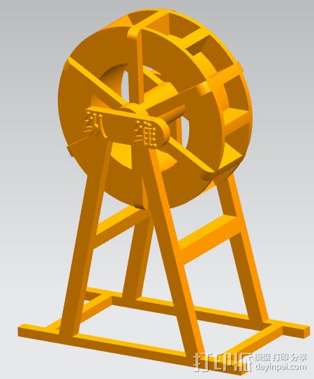 运动水车 3D打印模型渲染图